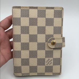 Authentic Louis Vuitton Azur Agenda PM size